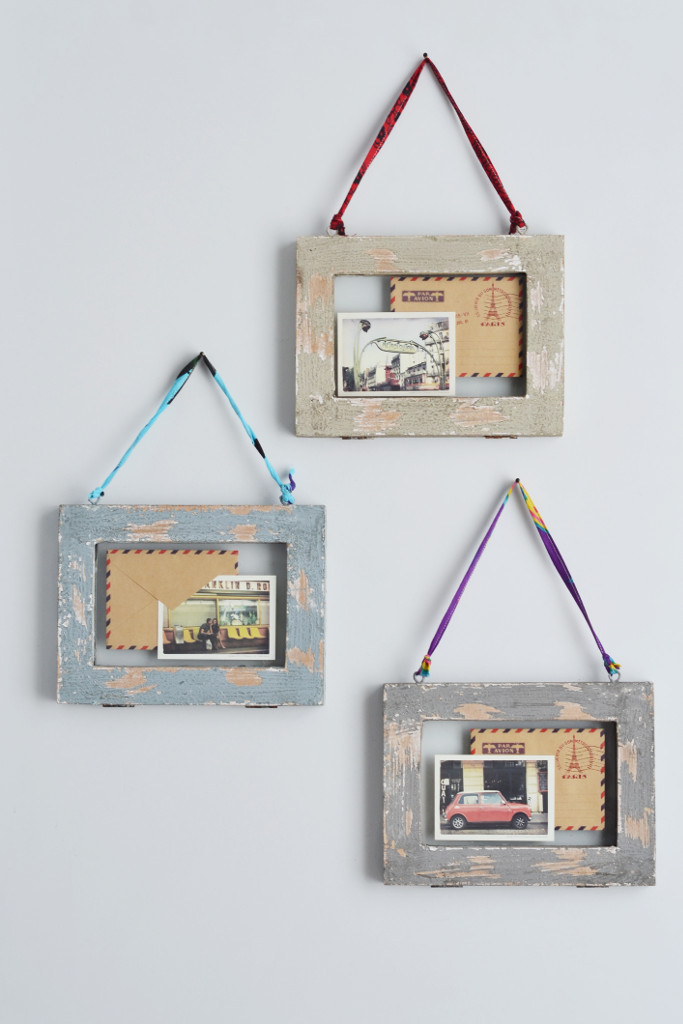 Double sided picture frames distressed wood - Decorator's Notebook shop