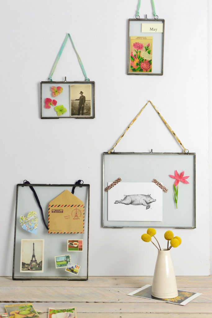 Decorator's Notebook double sided picture frames zinc