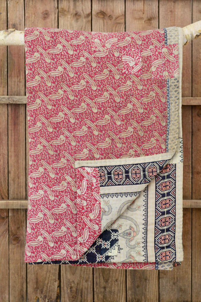 Kantha quilt vintage sari Decorator's Notebook shop
