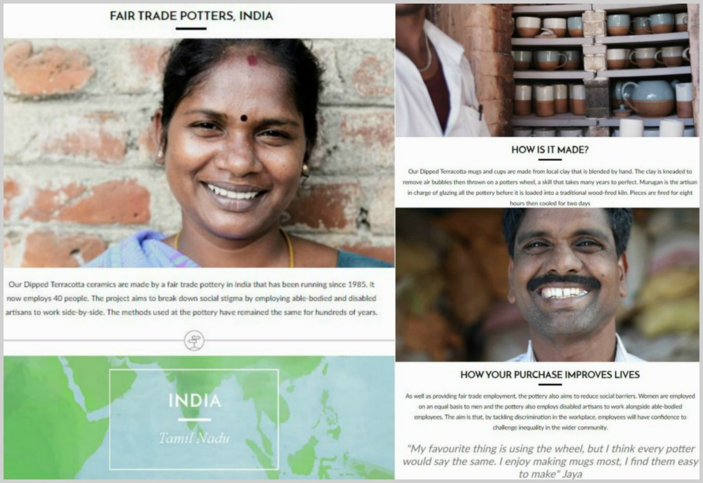 Fair trade artisan stories at Decorator's Notebook Shop