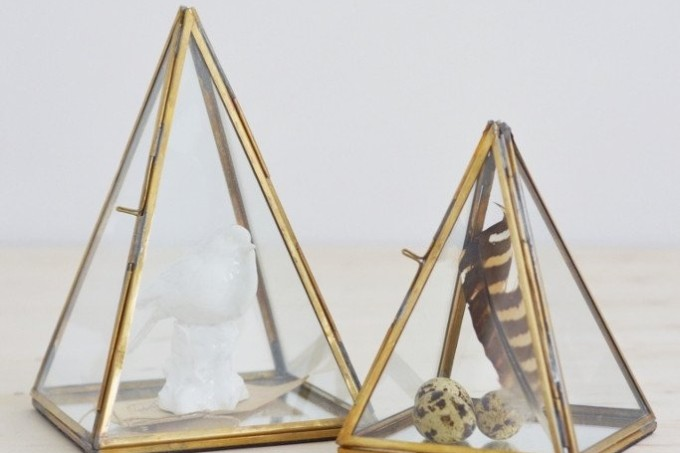 glass display pyramids - Decorator's Notebook