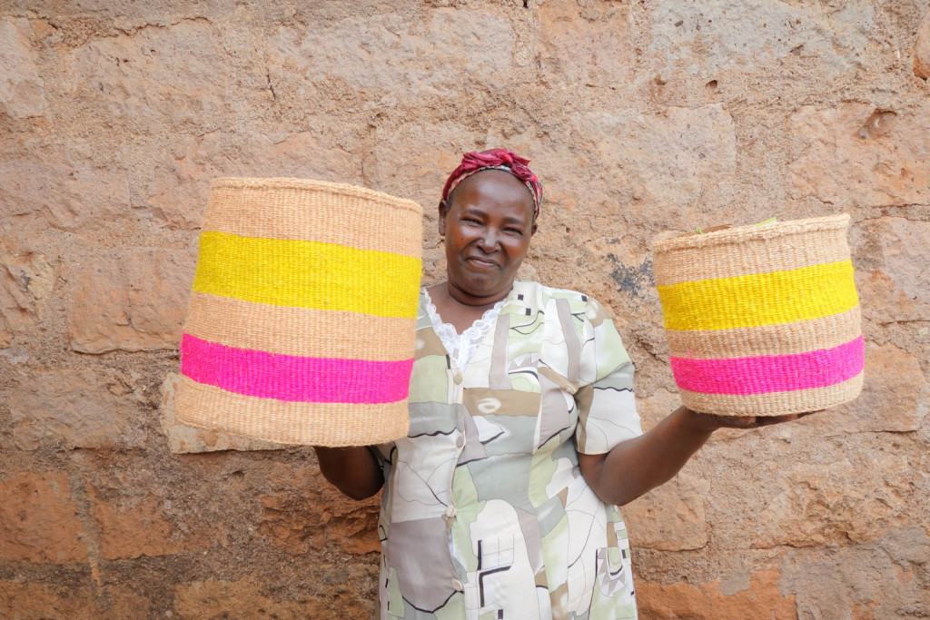 Decorator's Notebook baskets - Kenya 1