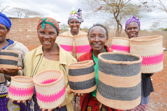 Decorator's Notebook baskets - Kenya 2