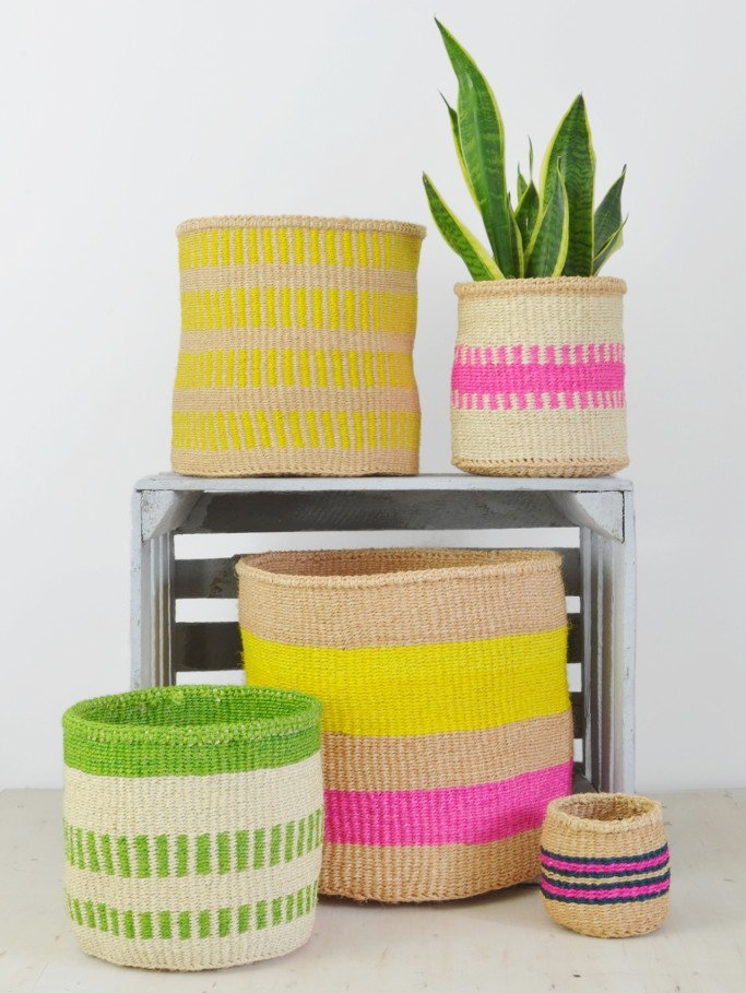 Kenyan baskets from Decorator's Notebook