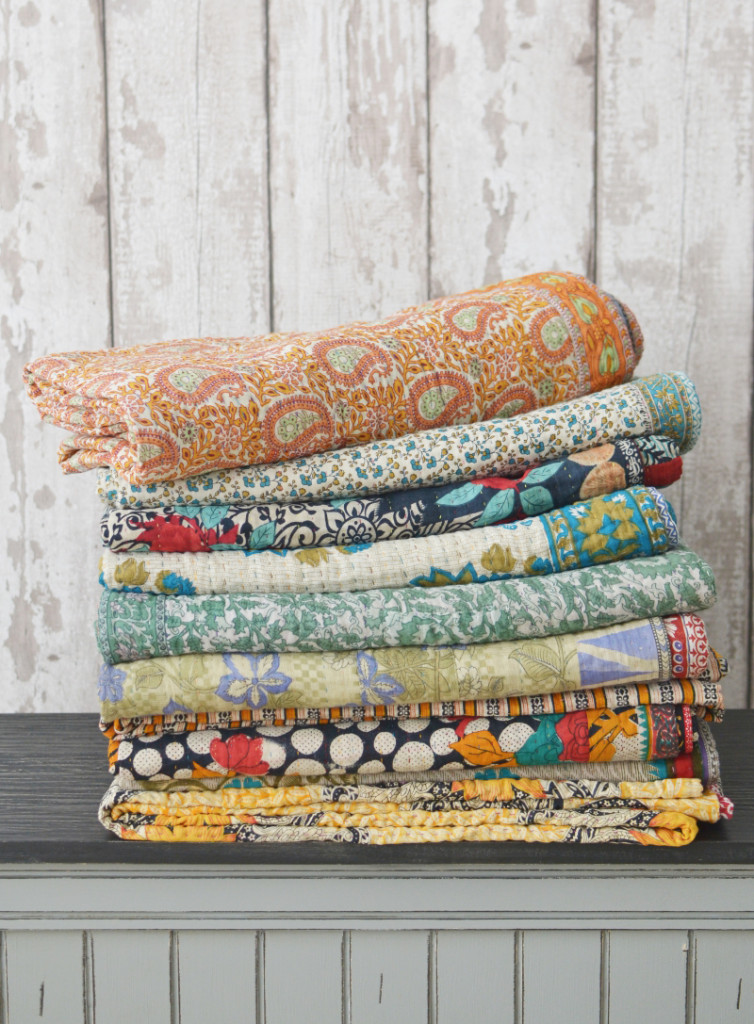 AW17 kantha quilts Decorator's Notebook